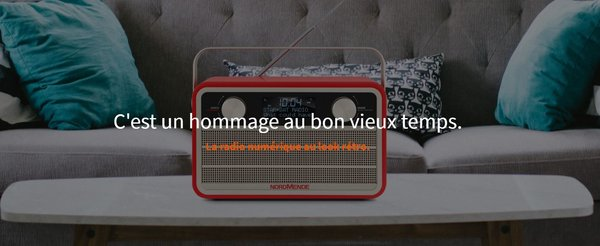 RADIO DAB DESIGN RETRO NORDMENDE