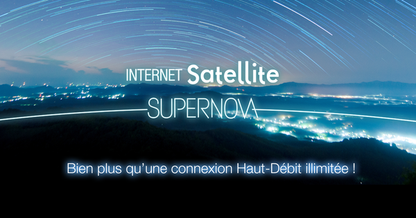 Internet par Satellite SUPERNOVA Nordnet data Illimité priorisée 50 GO