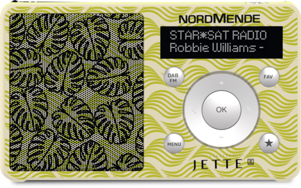 Radio Numérique Terrestre DAB+ Transita 100, LEAF Design Jette Joop Edition